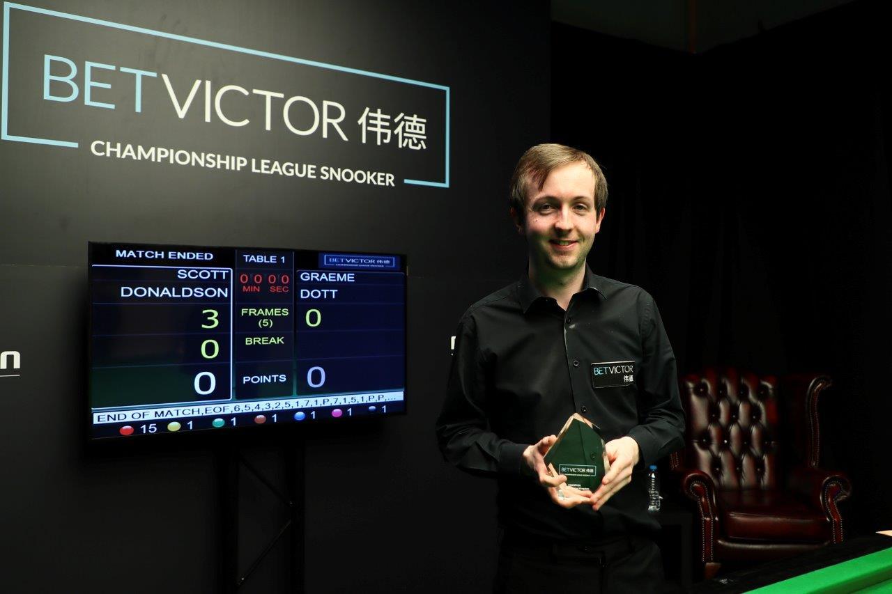 DONALDSON WINS BETVICTOR CHAMPIONSHIP LEAGUE SNOOKER
